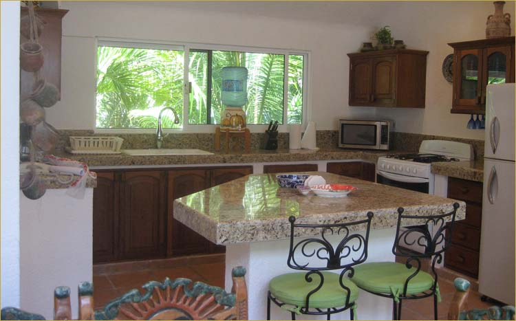 Akumal vacation rental villa with a fully equipped modern kitchen with all appliances